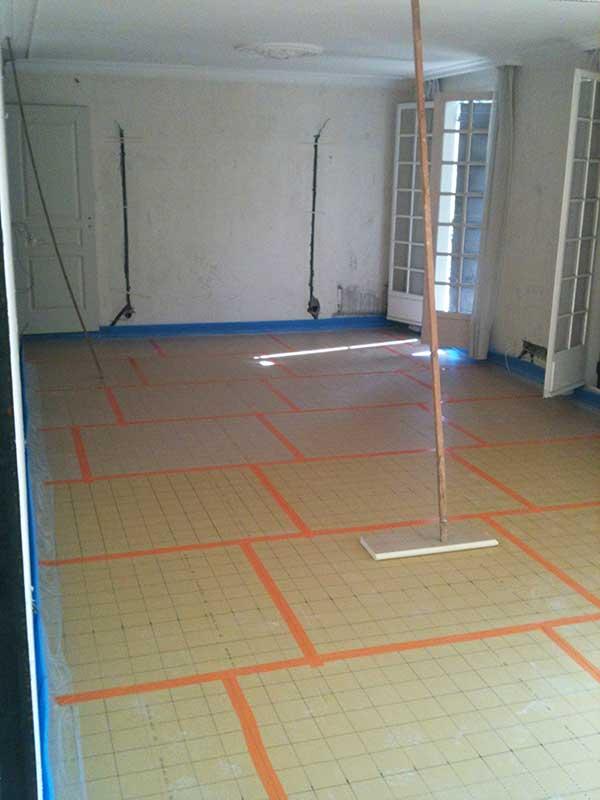 préparation installation plancher chauffant